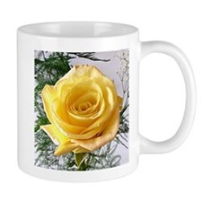 Yellow Rose Flower Mug