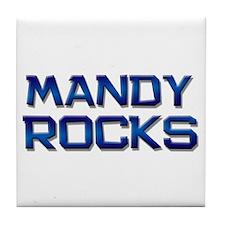 mandy rocks Tile Coaster