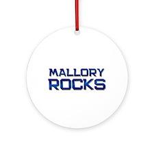 mallory rocks Ornament (Round)