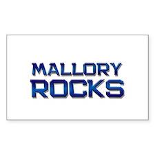 mallory rocks Rectangle Bumper Stickers