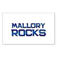 mallory rocks Rectangle Decal