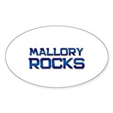 mallory rocks Oval Decal