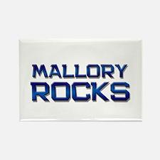 mallory rocks Rectangle Magnet