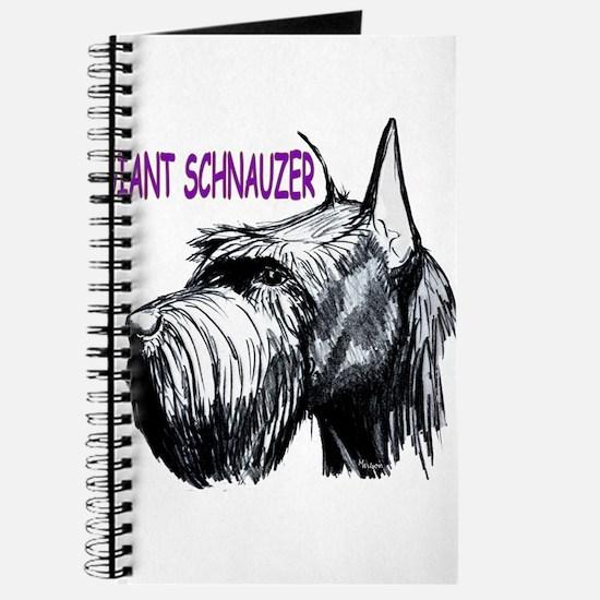 Cute Giant schnauzer Journal