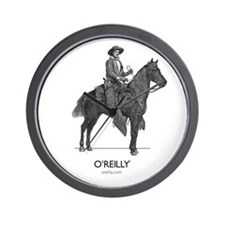 Mounted Cowboy Wall Clock