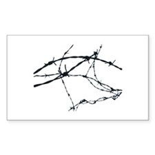 Barbed Wire Rectangle Decal