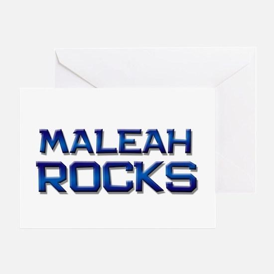 maleah rocks Greeting Card
