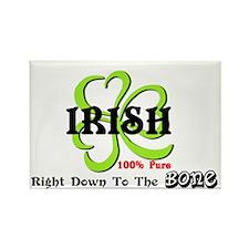 Irish100 % to the bone Rectangle Magnet