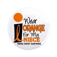 "I Wear Orange For My Niece 9 KC 3.5"" Button"