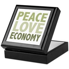 Peace Love Economy Keepsake Box