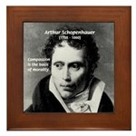 Arthur Schopenhauer Truth Framed Tile