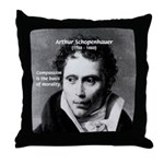 Arthur Schopenhauer Truth Throw Pillow