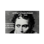 Arthur Schopenhauer Truth Rectangle Magnet (100 pa