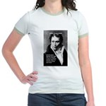 Arthur Schopenhauer Truth Jr. Ringer T-Shirt