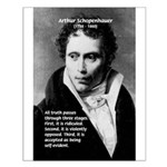 Arthur Schopenhauer Truth Small Poster