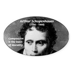 Arthur Schopenhauer Truth Oval Sticker