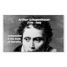 Arthur Schopenhauer Truth Rectangle Decal