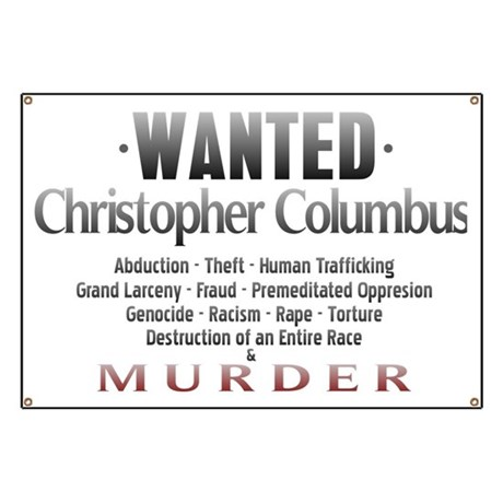 Wanted - Christopher Columbus Banner