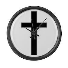 Cross Large Wall Clock