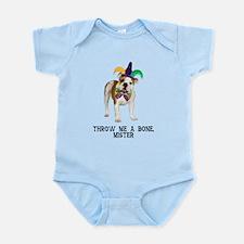 Bulldog Mardi Gras Infant Bodysuit