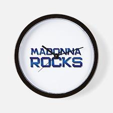 madonna rocks Wall Clock