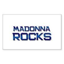 madonna rocks Rectangle Bumper Stickers