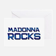 madonna rocks Greeting Card