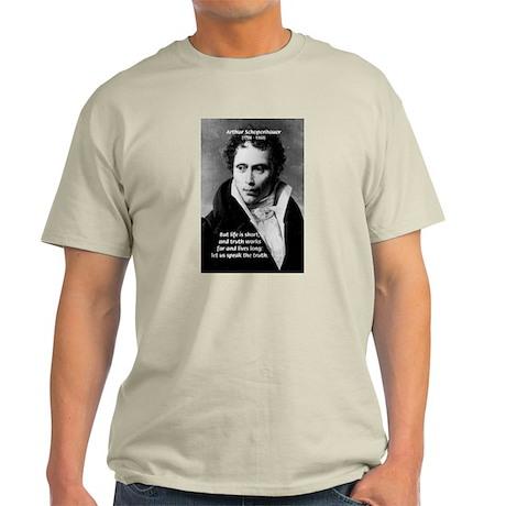 Schopenhauer Philosophy Truth Ash Grey T-Shirt