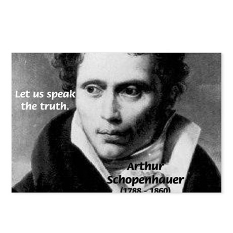 Schopenhauer Philosophy Truth Postcards (Package o