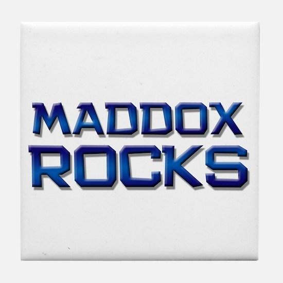 maddox rocks Tile Coaster