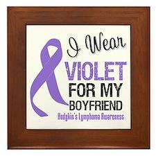 I Wear Violet Boyfriend Framed Tile