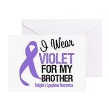 I Wear Violet For Brother Greeting Card
