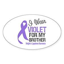 I Wear Violet For Brother Oval Sticker (10 pk)