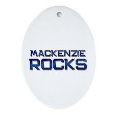 mackenzie rocks Oval Ornament