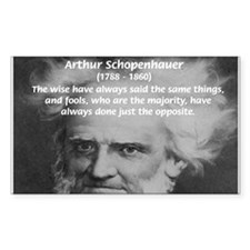 Pessimism / Schopenhauer Rectangle Decal