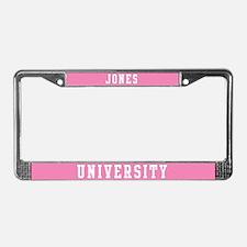 Jones Last Name University License Plate Frame