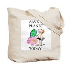 """""""Save A Planet"""" Tote Bag"""