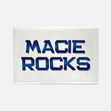 macie rocks Rectangle Magnet