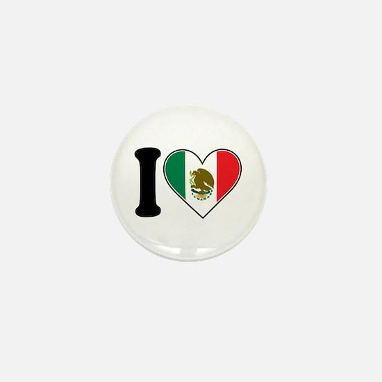 I Love Mexico Mini Button