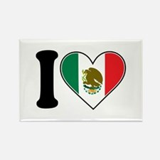 I Love Mexico Rectangle Magnet