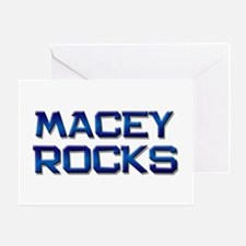 macey rocks Greeting Card