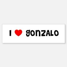I LOVE GONZALO Bumper Car Car Sticker