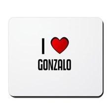 I LOVE GONZALO Mousepad