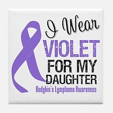 I Wear Violet For Daughter Tile Coaster