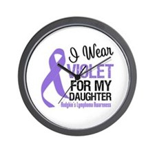 I Wear Violet For Daughter Wall Clock