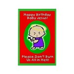 Happy Birthday B Jesus Rectangle Magnet (10 pack)