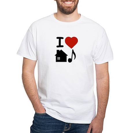 House Music White T-Shirt