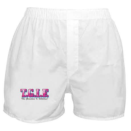 TGIF Fabulous Grandma Boxer Shorts