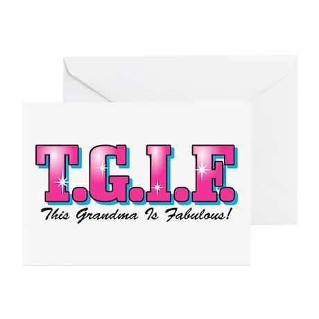 TGIF Fabulous Grandma Greeting Cards (Pk of 20)