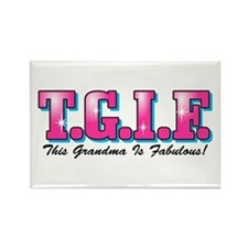 TGIF Fabulous Grandma Rectangle Magnet